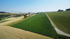 Swiss countryside aerial shot Stock Footage