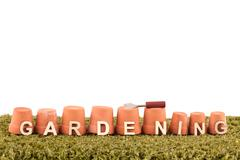 Gardening word design logo - stock photo