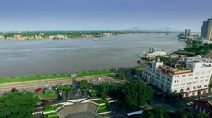 aerial view from jackson square to mississippi river - stock footage