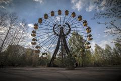 Ferris wheel in amusement park in Pripyat - stock photo