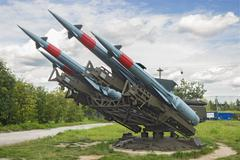 "Soviet anti-aircraft missile complex ""Neva"" S-125M - stock photo"