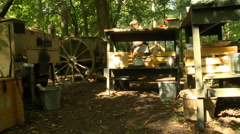 WWII German Field Kitchen low angle Stock Footage