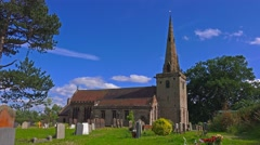 Church tower blue sky clouds time-lapse 1 Stock Footage