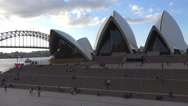 Stock Video Footage of Sydney Opera House people on steps timelapse