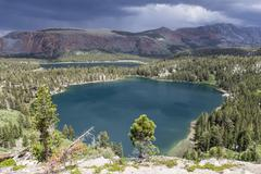 Mammoth Lakes in Sierra Nevada - stock photo