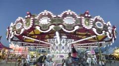 Merry-go-round time lapse - stock footage