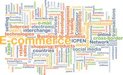 Stock Illustration of E-commerce background concept
