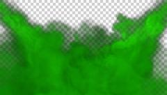 Animated toxic green gas filling up whole screen in 4k Stock Footage