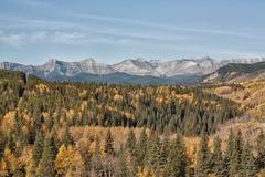 Autumn in the Sheep River Valley Stock Photos