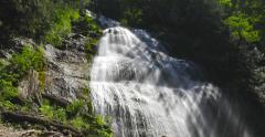 4K - Bridal falls near Vancouver Stock Footage