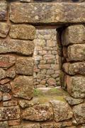 Detail of Inca Ruins at Machu Picchu Stock Photos