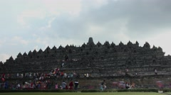 Ied holiday at Borobudur temple timelapse 4K Stock Footage