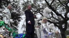 Mardi Gras Day Parade - King mid-city Stock Footage