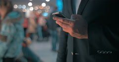 Businessman keeping in touch Stock Footage