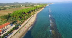 Torre Mozza Aerial View Stock Footage
