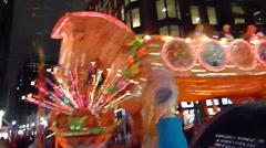 Mardi Gras Orpheus parade - Trojan Horse float Stock Footage