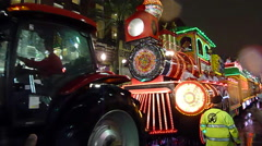 Mardi Gras Orpheus - Train float passing by Stock Footage