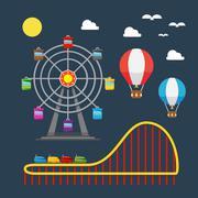 Flat design of carnival festival Stock Illustration