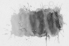 Abstract hand drawn watercolor gray background with empty place for text message - stock illustration