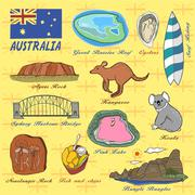 Travel concept of Australia Stock Illustration