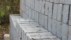 Handmade brick production Stock Footage