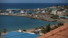 Two clip combo of beautiful coastal town harbour - stock footage