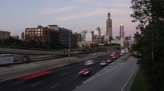 Chicago highway time lapse Stock Footage