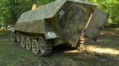 WWII German Half Track Interior 1 - stock footage