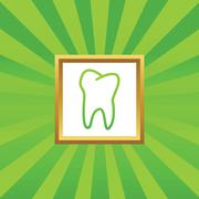 Tooth picture icon - stock illustration