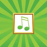 16th note picture icon - stock illustration