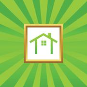 Cottage picture icon Stock Illustration