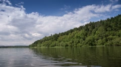 Tom River in Western Siberia Stock Footage