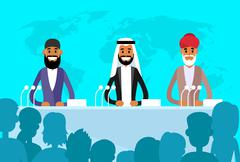Conference International Leaders Arabic Indian Jew President, People Group - stock illustration