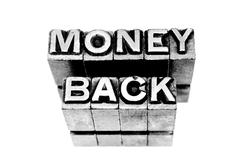 Money Back - stock photo