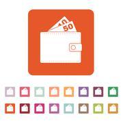 The wallet icon. Purse symbol. Flat Stock Illustration