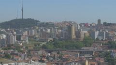 Vila Nova de Gaia cityscape Stock Footage