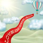 Stock Illustration of Hot air balloon. EPS 10
