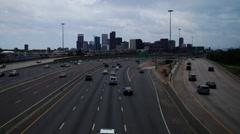 Denver I-25 timelapse Stock Footage