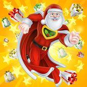 Heroic Santa Claus Stock Illustration