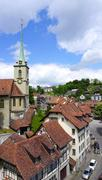 viewpoints historical old town city and church - stock photo