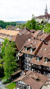 viewpoints historical old town Bern - stock photo