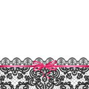 pink bow on lace background - stock illustration