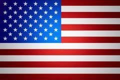 flag of United States of America - stock illustration