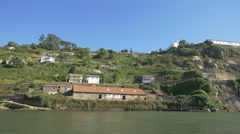 The riverside of Douro in Porto district Stock Footage