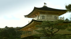A view of Kinkakuji (Golden Temple) in Kyoto, Japan Stock Footage