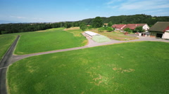 Aerial shot in the countryside Stock Footage