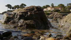 Water Flowing Through Stones Stock Footage
