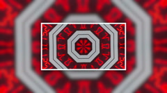 Abstract digital numbers kaleidoskop background pattern with copy space Stock Footage