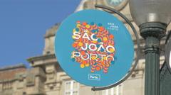 Festival of Saint John of Porto's logo Stock Footage