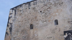 MEDIEVAL FORT JAIL cells windows Stock Footage